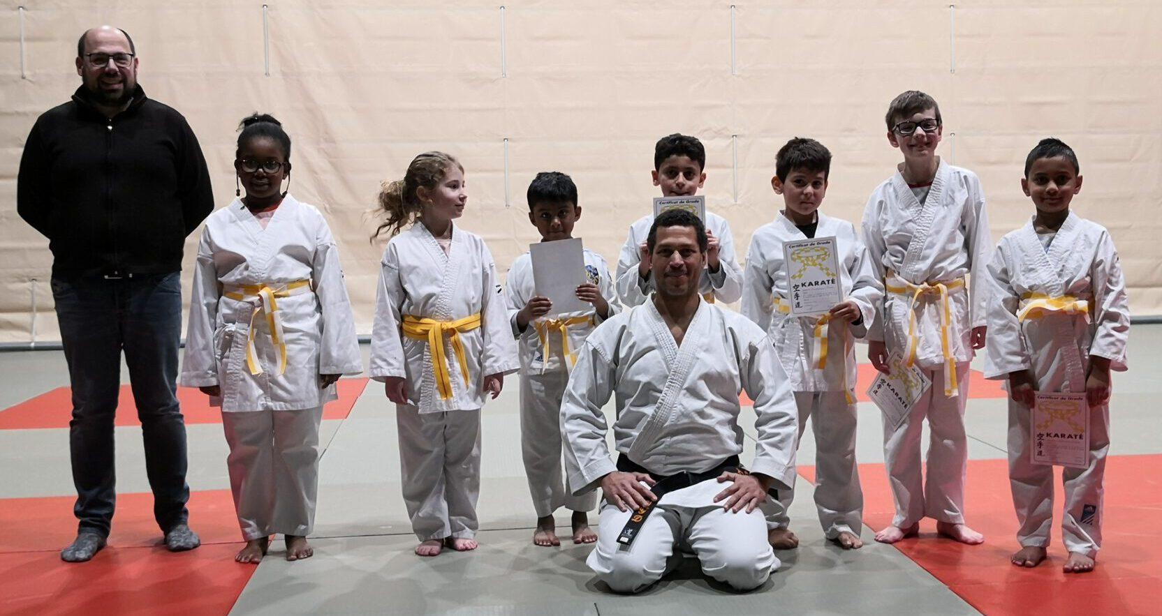 Karate Enfants : Passage de grade 2020